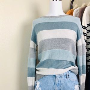Banana Republic Blue Striped Sweater